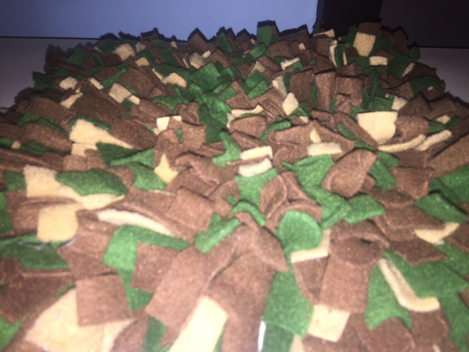 Handmade BrownTanHunter Green DogPig Snuffle MatTraining Feeding Mats 48x24