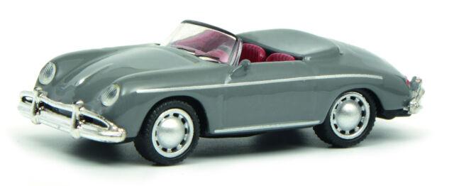 Schuco Edizione 1:87 452632900 Porsche 356 Speedster Grigio Ho Nuovo