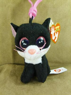 TY Beanie Boos PEPPER The Cat  Key Clip RETIRED Mint With Mint Tags