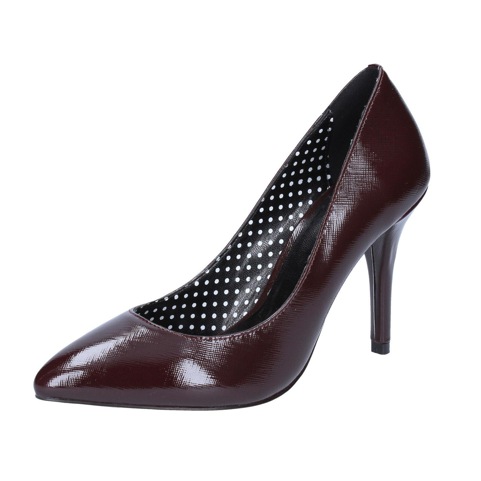 scarpe donna FORNARINA 37 EU BX89-37 decolte bordeaux pelle lucida BX89-37 EU feae16