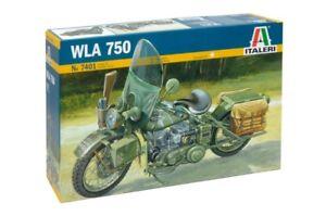 Italeri-1-9-Harley-Davidson-Wla-750-2nd-Guerre-Mondiale-Moto-7401