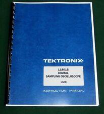 Tektronix 11801b User Manual Comb Bound Amp Plastic Protective Covers