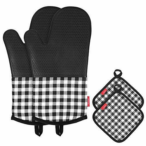 Oven Glove Oven Gloves Silicone or Cotton 1 Pair