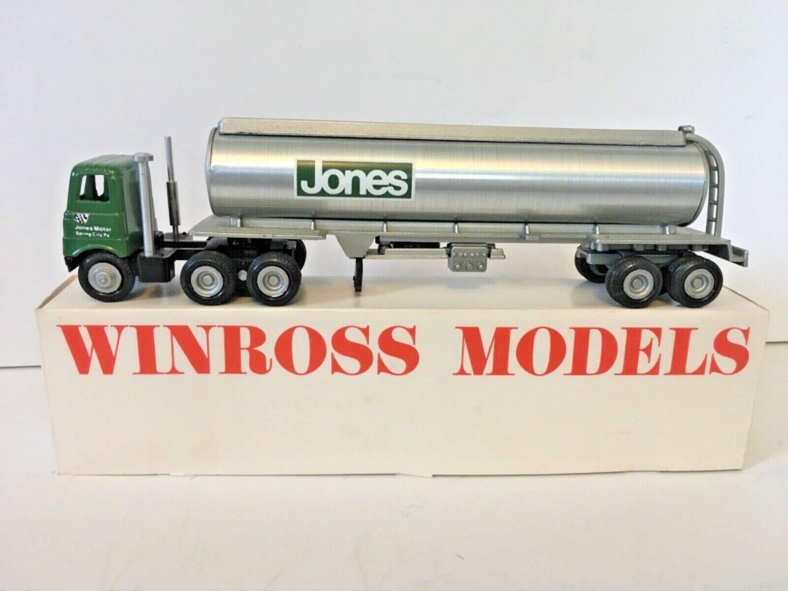 Jones Motor Tanker '78 Model Winross 1 64th Scale Tractor Trailer