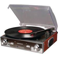 Retro Vintage 70's Style Turntable Vinyl Record Player AM FM Radio Stereo MP3