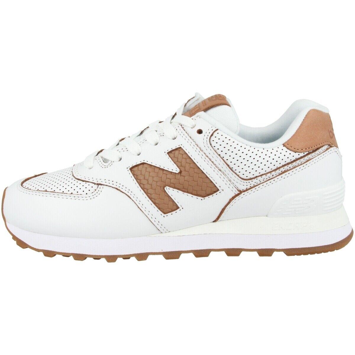 New Balance WL 574 WNG Schuhe Damen Turnschuhe Turnschuhe Weiß veg tan WL574WNG