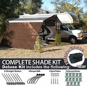 RV Awning Shade Motorhome Patio Sun Screen Complete Deluxe ...