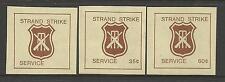 AUSTRALIA 1981 CRICKET STRAND STRIKE MAIL CINDERELLAS 3v IMPERF MNH