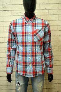 Camicia-Uomo-TOMMY-HILFIGER-Size-M-Maglia-Polo-Shirt-Hemd-Cotone-Chemise-Quadri