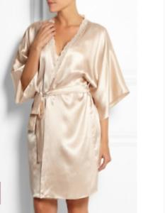 BNWT Stella McCartney Silk Rose Lace Clara Whispering Dressing Gown ... 9f6b2b7bb