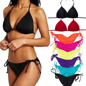 Womens-Bikini-Triangle-Bra-Padded-Tops-Swim-Shorts-Bikini-Brief-Bottoms-Swimwear
