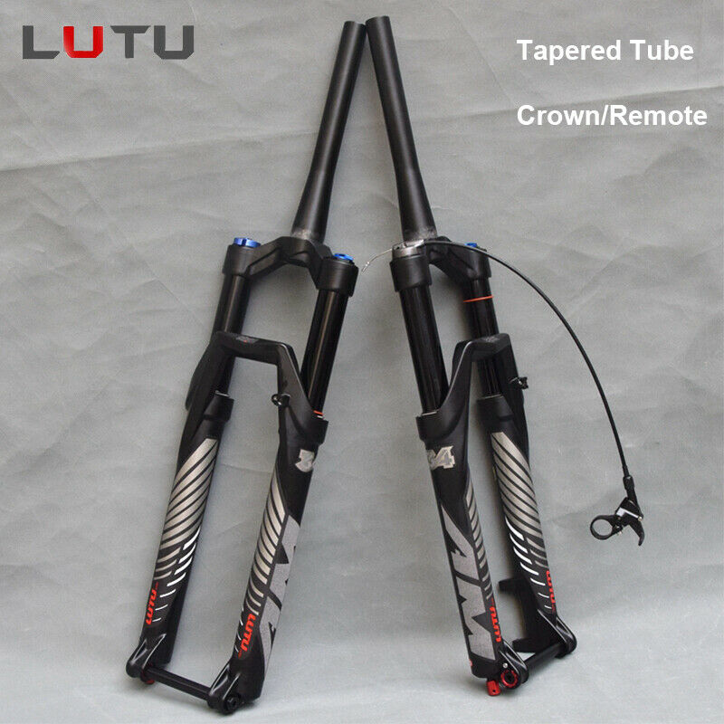 LUTU Air Suspension Fork Thru Axle Rebound 1-1 8 Disc MTB Bike Forks 26 27.5 29
