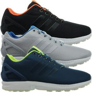 e4bd03391ee8 Adidas ZX Flux men s sneakers black gray blue casual running shoes ...
