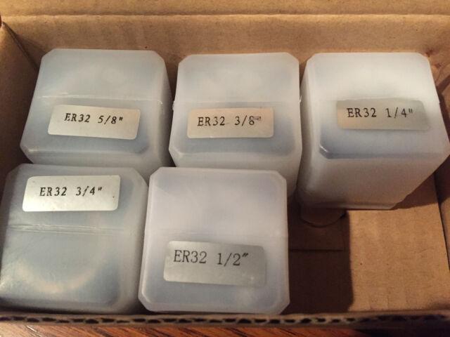 11 pcs 1//8-3//4 ER32 ER-32 COLLET COLLETS SET SETS .0003 3//32 1//4 3//8 1//2 5//8