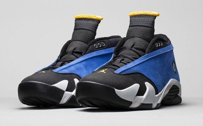 Nike Air Jordan 14 Retro Laney Blue Royal Maize White Black 807511 405