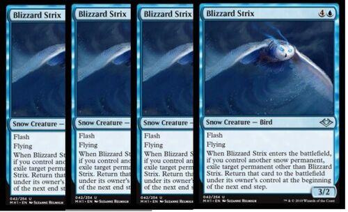4x Blizzard Strix Modern Horizons Blue Uncommon NM