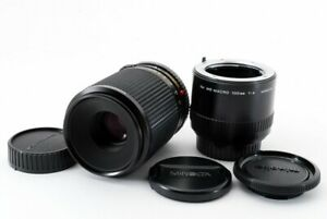 Excellent-Minolta-MD-100mm-f-4-MACRO-Lens-w-Extension-Tube-from-Japan