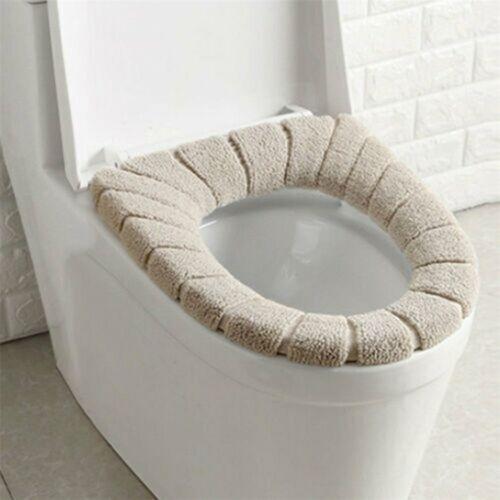 Toilettensitz-Bezug WC Closes Warmer Waschbar Tuch Sitzbezug Cover 9v