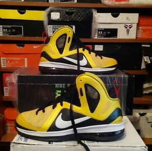 separation shoes 121a4 5f5b8 Image is loading Nike-LeBron-9-P-S-elite-series-034-taxi-