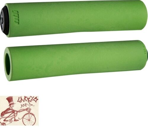 ODI F-1 FLOAT 130MM GREEN BICYCLE GRIPS