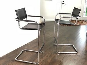 Amazing Details About Pair Of Mid Century Modern Cantilevered Bar Stools By Mart Stam Marcel Breuer Pdpeps Interior Chair Design Pdpepsorg