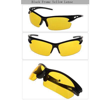 UV400 HD Night Vision Polarized Glasses Aviator Driving Sunglasses Eyewear
