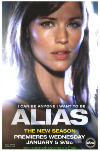 ALIAS POSTER WILD POSTING 2004 TV PROMO JENNIFER GARNER