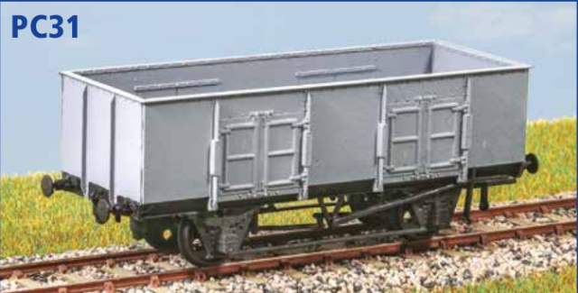 BR 'Clam' 21 ton Ballast Wagon free post OO gauge Parkside PC68
