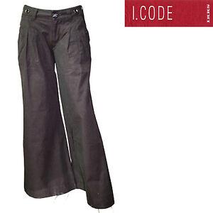 Pantalon-pinces-large-marron-I-CODE-by-IKKS-femme