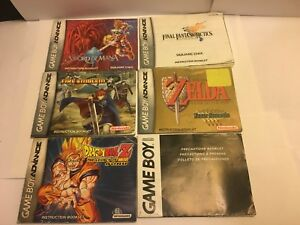 Game-boy-Advanced-Instruction-Booklets-ONLY