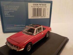 TRIUMPH-Stag-Rosso-modellini-di-automobili-Oxford-Diecast