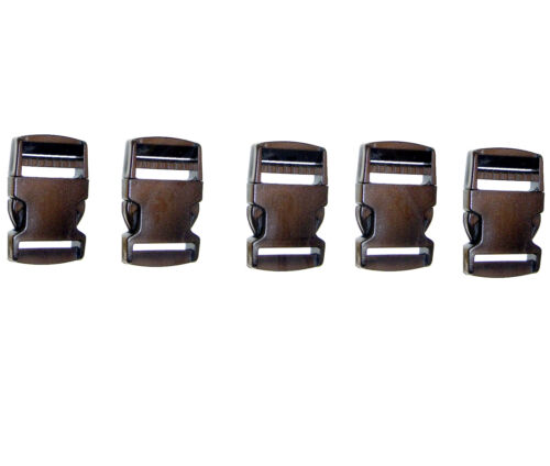 "Acetal Plastic for 1½/"" Inch Webbing Set Quick Release Clip 5 Pc"