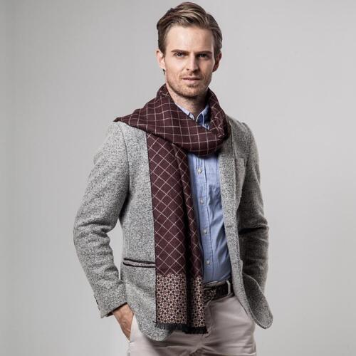 Classic Design Men Casual Shawl Winter Scarf Long Warm Cashmere Scarves 5 Colors