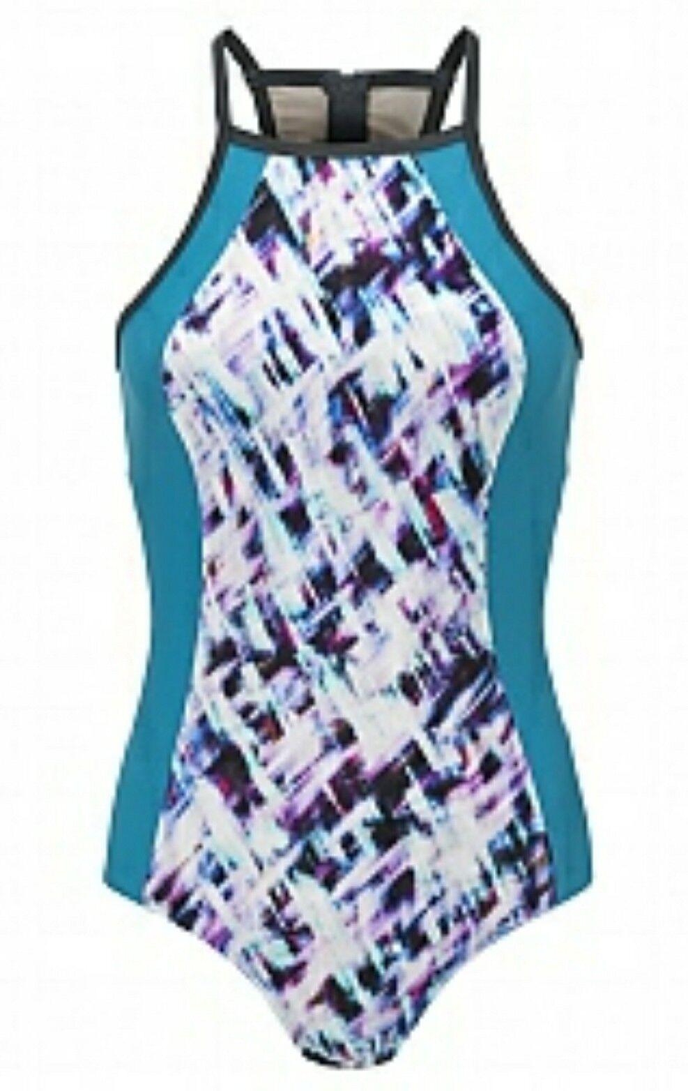 Sweaty Betty Aquaglide Swimsuit size L NEW SB101-B3