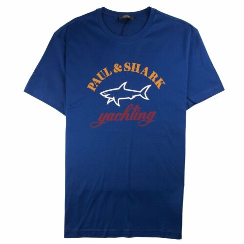 Paul And Shark Large Logo Tee Electric Blue