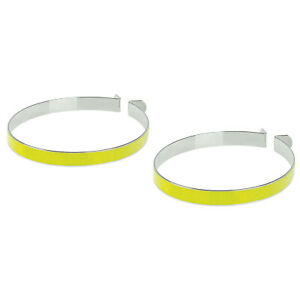 Bike high visibility reflective Trouser Clips metal steel Pant bicycle band leg