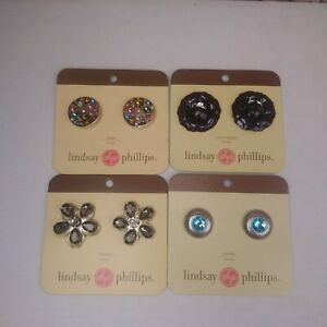 Lindsay-Phillips-Interchangeable-Snaps-Shoe-Charms-Lot-of-4