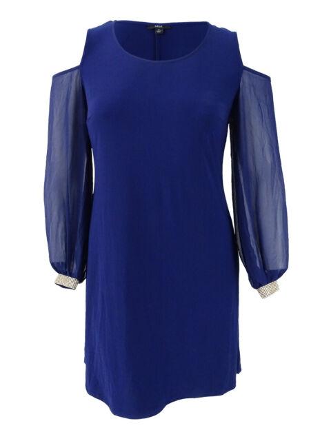 ffa60487a209 MSK Women's Embellished Cold-shoulder Cocktail Dress 2 Midnight for ...