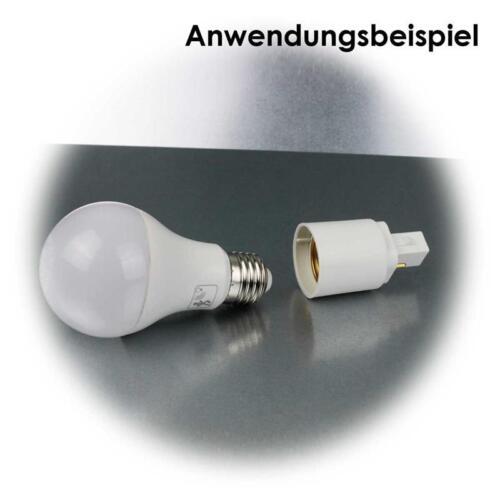 Lampenfassung Converter Lampensockel Adapter E27 Gewinde Birne in G24 Fassung