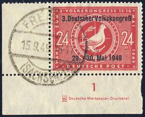 SBZ-MiNr-233-I-DZ-Druckereizeichen-schoen-gestempelt-Mi-100