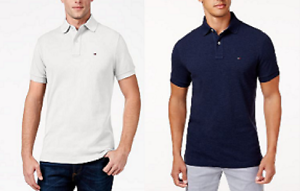 Tommy-Hilfiger-Men-039-s-Classic-Fit-Ivy-Polo