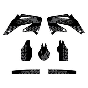 Details about Honda CRF450 2002-2004 Woody graphics kit black highlight  FREE SHIPPING!!!
