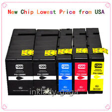 5 pack PGI-1200 XL Ink Cartridges For Canon MAXIFY MB2020 MB2320 MB2050 MB2350