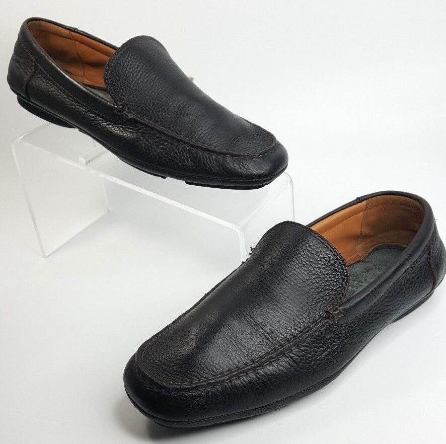 Hugo Boss shoes Driving Loafer Leather Slip On Rubber Sole Brown Men Size 7.5