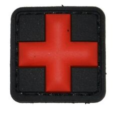 Rubberpatch Rettungsdienst Tactical Medic Cross Kreuz schwarz/rot klein