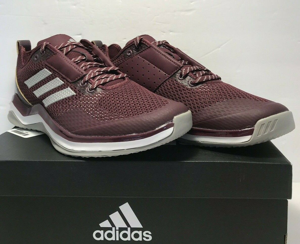 Adidas Mens Size 9 Speed Trainer 3.0 Baseball Turf Training Maroon shoes Q16548
