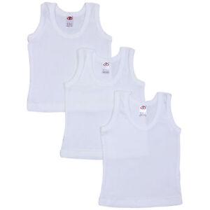 Childrens Sleeveless Vests Cream 4 Pack Boys and Girls Toddler To Older Child