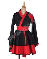 Custom-made Naruto Shippuden Akatsuki Organization Kimono Dress Cosplay Costume