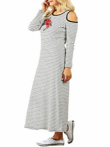 Details about ST@ Funfash Women Plus Size White Black Red Rose Long Maxi  Dress New Made in USA