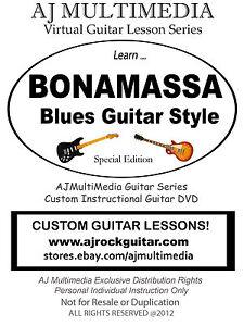 Custom Guitar Lessons, Learn Bonamassa style blues